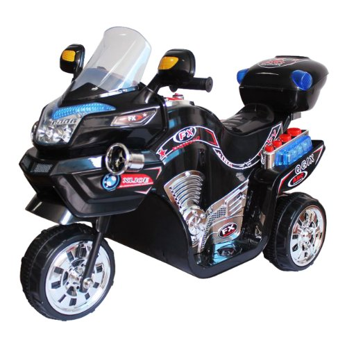 Ride on Toy, 3 Wheel Motorcycle for Kids, Battery Powered Ride On Toy by Lil' Rider  – Ride on Toys for Boys and Girls, 2 - 5 Year Old - Black FX