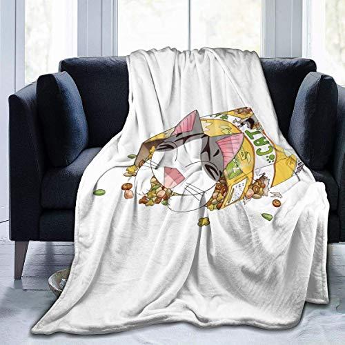 Chi'S Sweet Home – Manta de Franela Adecuada para Todo Tipo de sofá, Oficina, Suave y cómoda