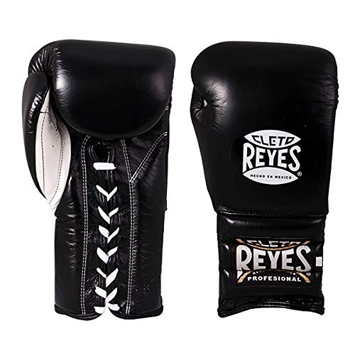 CLETO REYES Traditional Training Gloves with Laces Unisex (16oz, Black)