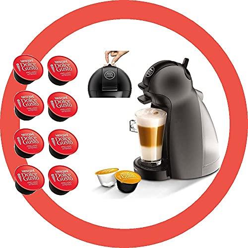 DOLCE GUSTO PICCOLO YY2283FD • Macchina da caffè manuale 15 bar • Caffettiera espresso e altre bevande + 8 capsule in omaggio (Nicolo • Nero + 8 Morning)