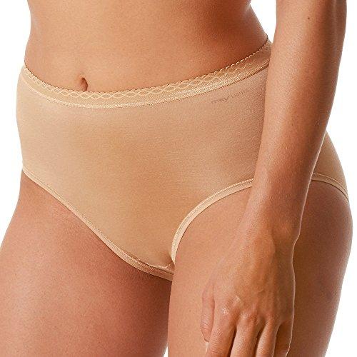 Mey  2er Pack Damen Taillenslip Größe  Haut Slip ohne Seitennähte Pflegeleichte Damen-Pants Damen Unterhose 89201 Lights, 42, Soft Skin