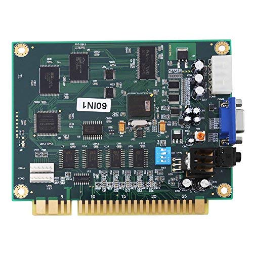 Placa Base de Videojuego Tablero PCB Multicade Classics 60 en 1 Salida CGA/VGA para Arcade Game Machine