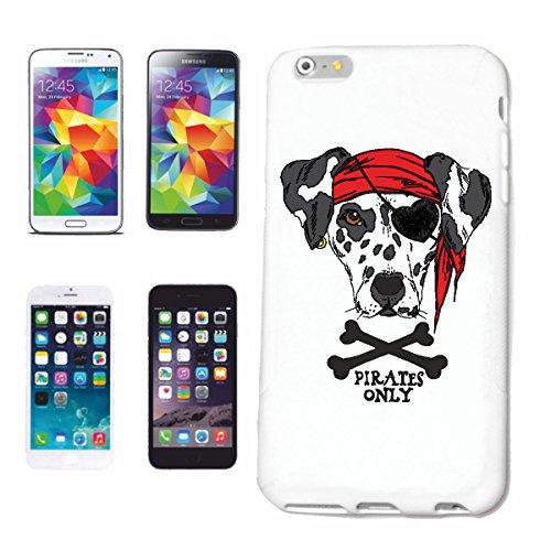 Bandenmarkt telefoonhoes compatibel met iPhone 7+ Plus Dalmatiërs MET hoofdband en oogklep als pirat contactvriendelijk verspillt energiebesparend actief actief actief