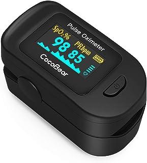 Pulsossimetro, CocoBear Monitore di Battito Cardiaco Portatile con OLED Display, FED e CE Certificato per Misurazione di P...