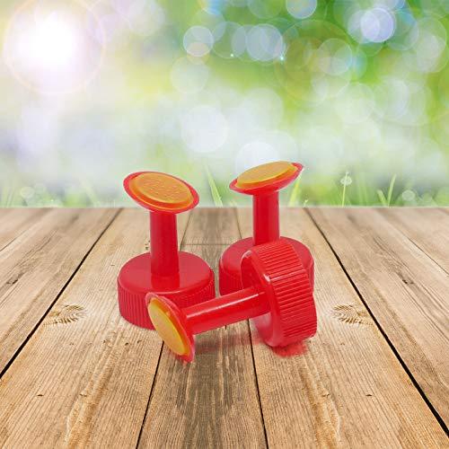 prademir Gießaufsatz für Flaschen Topf Bewässerung Flaschen Wasser Dosen Kleine Sprinkler Flasche Top Bewässerung Kunststoff Pflanze Gießaufsatz für Samen Sämling Garten (rot)