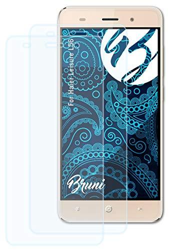 Bruni Schutzfolie kompatibel mit Haier Leisure L56 Folie, glasklare Bildschirmschutzfolie (2X)