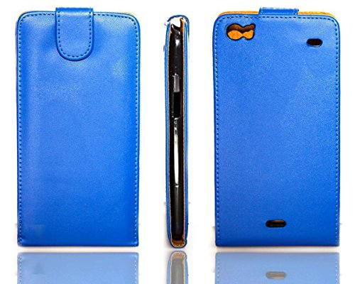 caseroxx Flip Cover für Wiko Darkside, Tasche (Flip Cover in blau)