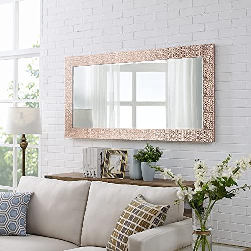 Naomi Home Mosaic Style Full Length Floor Mirror Rose Gold