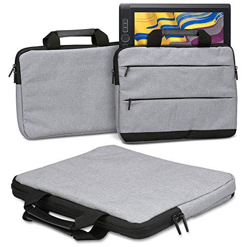 Schutzhülle Wacom MobileStudio Pro 13 Grafiktablett Tasche Sleeve Case Stifttablett Hülle in Grau Tragetasche mit Griffen Universal Schutztasche, Farbe:Grau