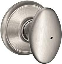 Schlage F40VSIE619 Siena Privacy Knob, Satin Nickel