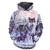 Women Luminous Teen Wolf Hoodie Wolf Sweatshirts Wolf Jacket cat Hoodies Animal Hoodie Mens Wolf Hoodie Wolf Costume Wolf Shirt Wolf Shirts for Men cat Sweatshirt Wolf Hoodie Cosplay Halloween M