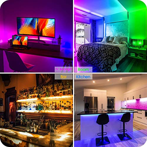 Led Strip Lights 50 Feet,TINOCOR Led Lights Strip App Control, Color Changing and Synchronization with Music,Led Lights for Bedroom,Room and Home Decoration 3