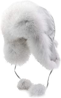 Yosang Fox Fur Russian Trooper Style Hat Adult Winter Ushanka Snow Hat
