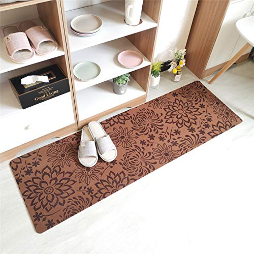 Aunt Susan Alfombras Salon Grandes - Pelo Largo Alfombra Habitación Dormitorio Lavables Comedor Moderna Viveropineapple Flower Coffee50X80