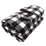 7Buy 12V Fleece Car Travel Electric Heated Blanket for Medium and Small Cars (Black/Gray/White)
