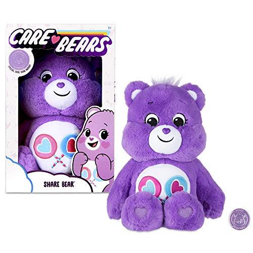 Care Bears 14 Zoll Share Bear Plüschtier mit Münze