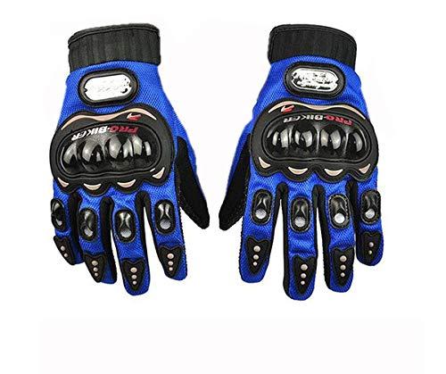 Flomaster Probiker Full Finger Motorcycle Gloves (Blue, M)