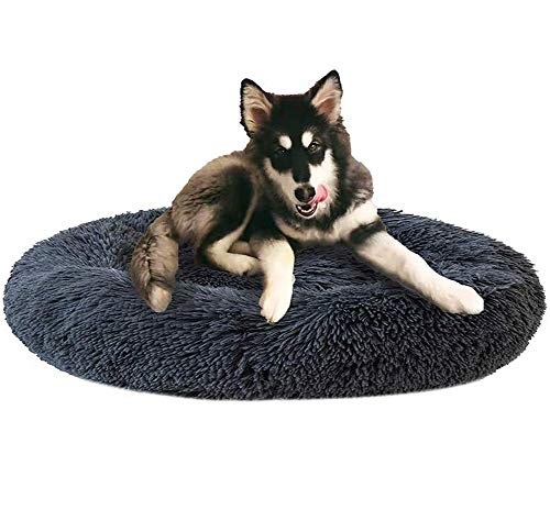 Monba Premium Orthopädisches Haustierbett für große und extra große Hunde,Donut Hundebett Weiches Plüsch Rundes Hundesofa mit Wasserfeste Unterseite,Hundekörbchen waschbar