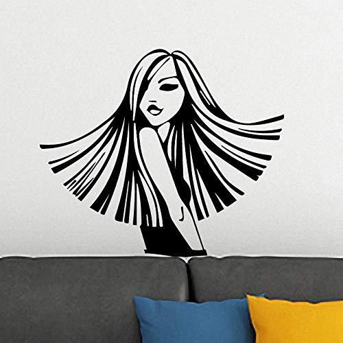Wopiaol Luxuriant Girl afneembare PVC-muursticker voor kinderkamer kinderkamer decoratie Home Party Decor Wand XL 58cm x 49cm