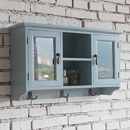 BGCG Deckenschrank, Hängeschrank, Schrank, Balkon Schlafzimmer Esszimmerschrank, American Vintage Massivholz Küche Schrank Hängeschränke (größe : 66 * 19 * 39cm)