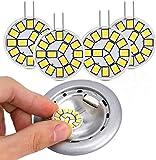 4 Pezzi Lampadine LED G4 2W 3000K, Kohree Lampadine Equivalente Alogena 25W 12V AC/DC 220 lumen Luce Bianca Naturale