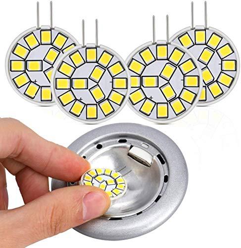 Kohree G4 LED Lampen, 2W LED Glühbirne Birnen ersetzt 20W Halogenlampen, Hellweiß 12V AC/DC LED Leuchtmittel, 350LM Kein Flackern Nicht Dimmbar 360° Lichtwinkel G4 Licht [Energieklasse A++]