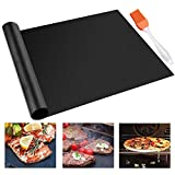 CHERAINTI Grill Mat Oven Liner 70'x16' Non-Stick Reusable Barbecue BBQ Mat, Cut to Any Size, for Gas Grill, Charcoal, Electric Grill, Electric Oven, Heat Resistant
