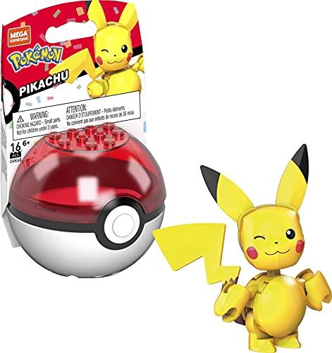 Mega Construx GVK60 - Pokémon 25. Jubiläum Pikachu Bauset mit 16 Bausteinen, ab 6 Jahren
