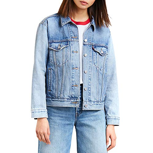 Levi's Ex-Boyfriend Trucker Giacca in Jeans, Blu (for Real 0089), Medium Donna