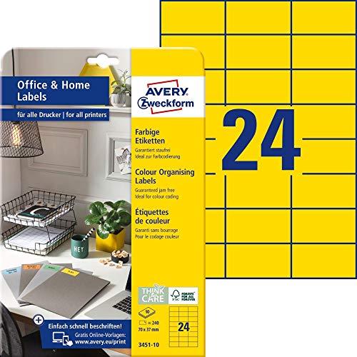 AVERY Zweckform 3451-10 Gelbe Et...