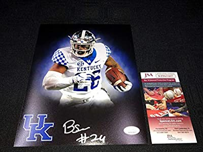Benny Snell Jr. Autographed Signed Kentucky Wildcats 8x10 Photo JSA Witness COA Steelers