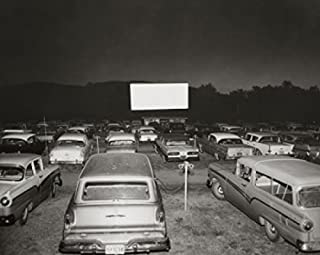 Posterazzi Cars parked in an drive-in movie theater Poster Print (8 x 10)
