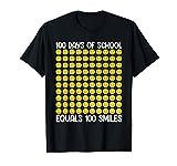 100 Days Of School Equals 100 Smile - 100th Day School Emoji T-Shirt