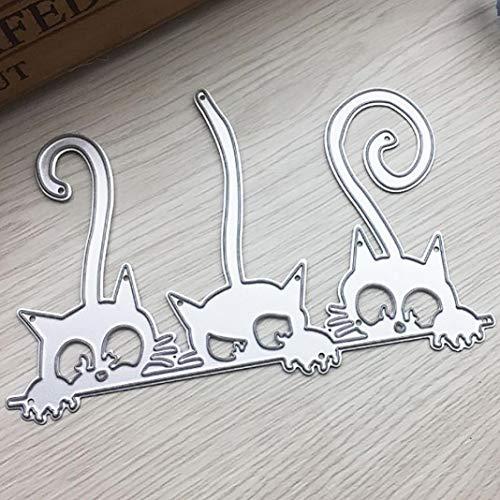 Plantillas de corte de metal, diseño de gatos