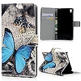 Mavis's Diary - Funda con tapa para teléfono móvill Sony Xperia E5. Cubierta abatible de poliuretano y cierre magnético
