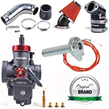 NIBBI Racing Parts Original Replacement High Performance Speed Modified Carburetor Kit PE26MM GY6 Curved Pipe Throttle Cable High Flow Air Filter 48MM Fit GY6 Engine Scooter 100CC 125CC 150CC