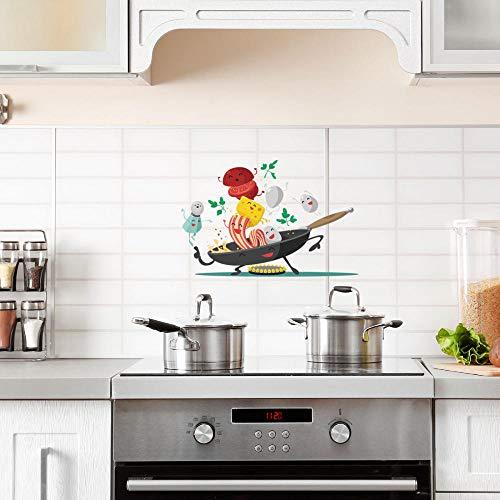 Cooldeer muursticker van PVC-kunststof, waterdicht, voor keuken, creatief koken