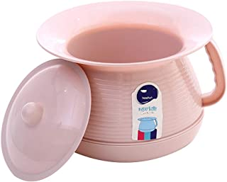 Benfa Chamber Pot Portable Toilets Women Urine Bowl Spittoons for Kids Pregnant Woman Adults,Pink