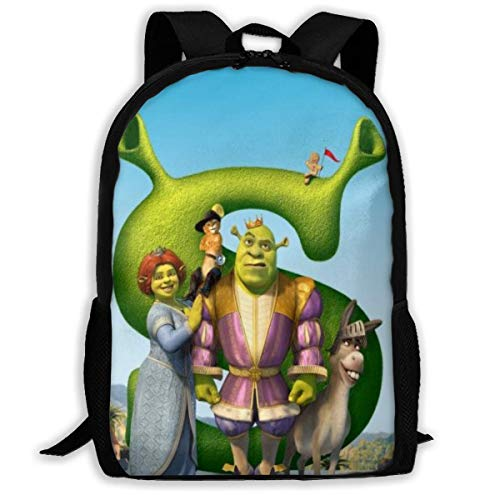 Backpack Cartoon Shrek Backpack Travel Laptop Bookbag Capacity Lightweight Stationery Purse Bag for Girls Boys College School Women Men Office