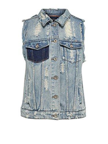 ONLY - Damen Jeans Weste Christa Waistcoat 36 licht Denim