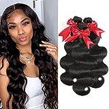 10A Brazilian Body Wave Hair Bundles 100% Human Hair 3 Bundles Body Wave Unprocessed Virgin Weave Hair Human Bundles...
