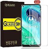 【2枚】QULLOO Moto G8 ガラスフィルム 強化ガラス 日本旭硝子素材 全面保護 硬度9H 飛散防止 指紋防止 自動吸着 気泡防止 Moto G8 液晶保護フィルム