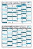 Tafelkalender DIN A4 2021 (5 Stück) Format (210 x 297 mm) 300g BD Papier, sehr gut beschreibbar + Ferientermine aller Bundesländer