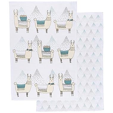 Danica Studio Cotton Kitchen Towels, Set of Two, Llamarama