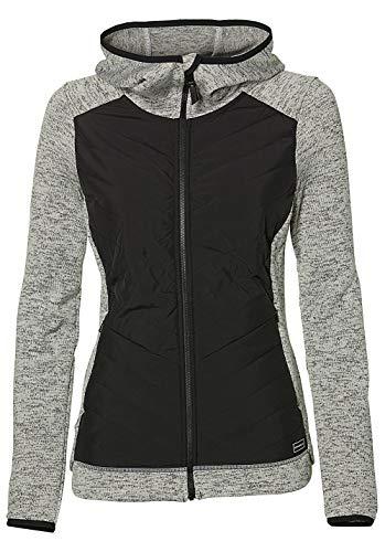 O'Neill Damen Fleecejacke Piste Hoodie Baffle Fleece Jacket Shirts & Fleece, Silver Melee, S