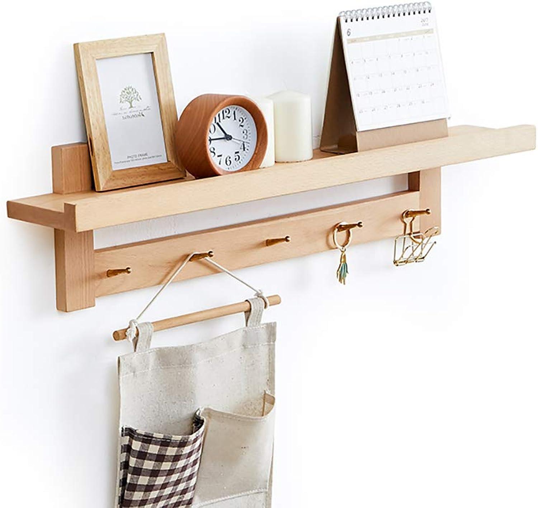 Wall-Mounted Coat Rack, Bedroom Wall Solid Wood Coat Rack, Foyer Creative Coat Rack, Living Room Multi-Purpose Shelves