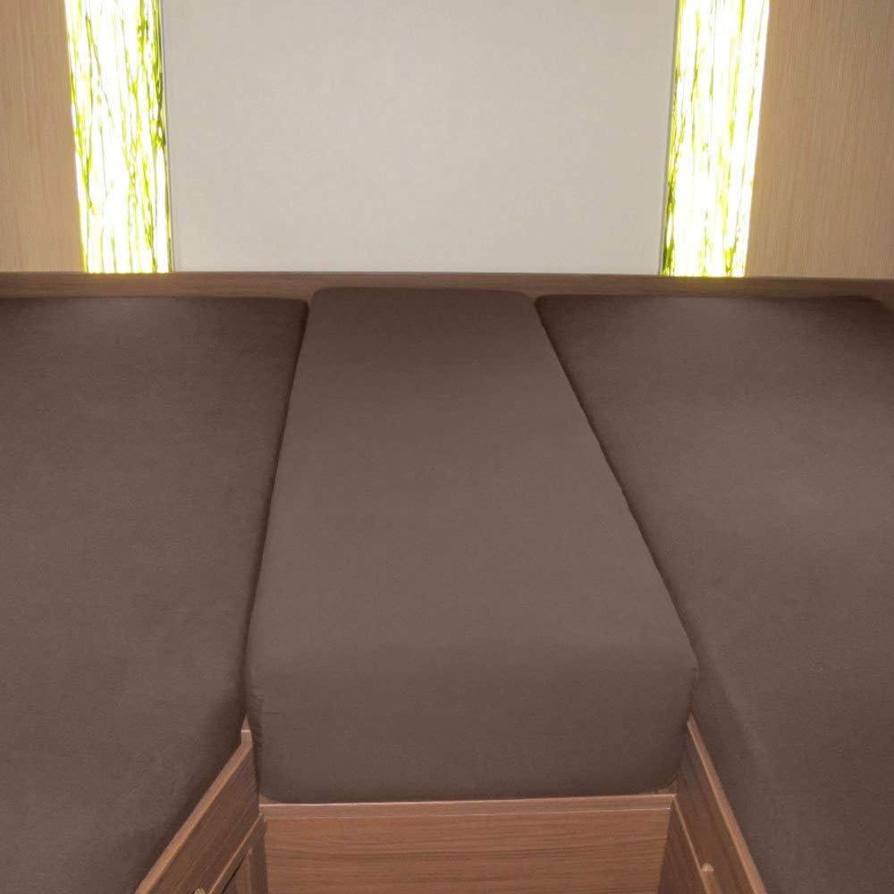 G Bettwarenshop Wohnmobil Wohnwagen Heckbett Spannbetttuch Set 3 Teilig Leinen 2 Längsbetten Mittelteil Küche Haushalt