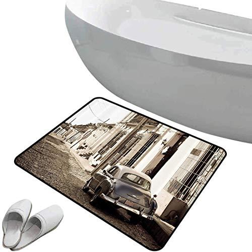 Alfombra de baño antideslizante Set de coches antiguos Área segura de alfombra...