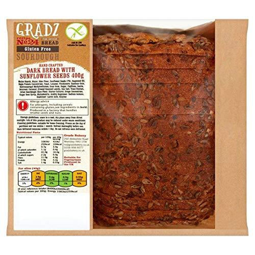 Gradz Bakery Gluten Free Ranking TOP2 Dark Bread with - Limited price sale Sunflower Seeds 400g