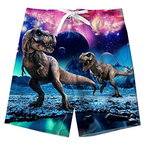 Idgreatim - Bañador - para niño Dinosaurio XS (5- 6 años